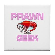 Prawn Geek Tile Coaster