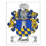 Manola Family Crest Small Poster