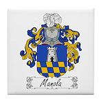 Manola Family Crest Tile Coaster
