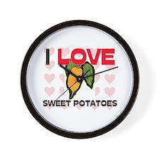 I Love Sweet Potatoes Wall Clock