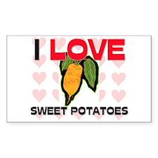 I Love Sweet Potatoes Rectangle Decal