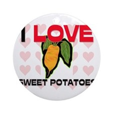 I Love Sweet Potatoes Ornament (Round)