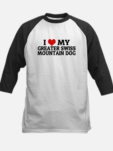 I Love My Greater Swiss Mount Kids Baseball Jersey