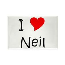 Cute Neil Rectangle Magnet