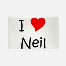 Cute Neil Rectangle Magnet