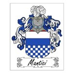 Mantici Family Crest Small Poster