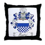 Mantici Family Crest Throw Pillow
