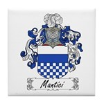 Mantici Family Crest Tile Coaster