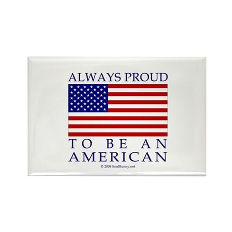 Proud to be American Rectangle Magnet