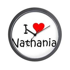 Cute Heart nathanial Wall Clock