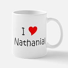 Cute I love nathanial Mug
