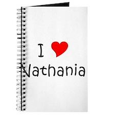 Cute Heart nathanial Journal