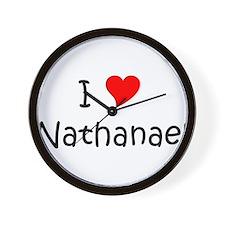 Unique I love nathanael Wall Clock