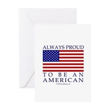 Proud to be American Greeting Card
