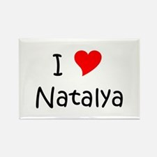 Unique Natalya Rectangle Magnet