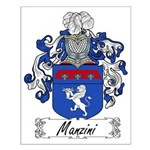 Manzini Family Crest Small Poster
