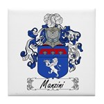Manzini Family Crest Tile Coaster