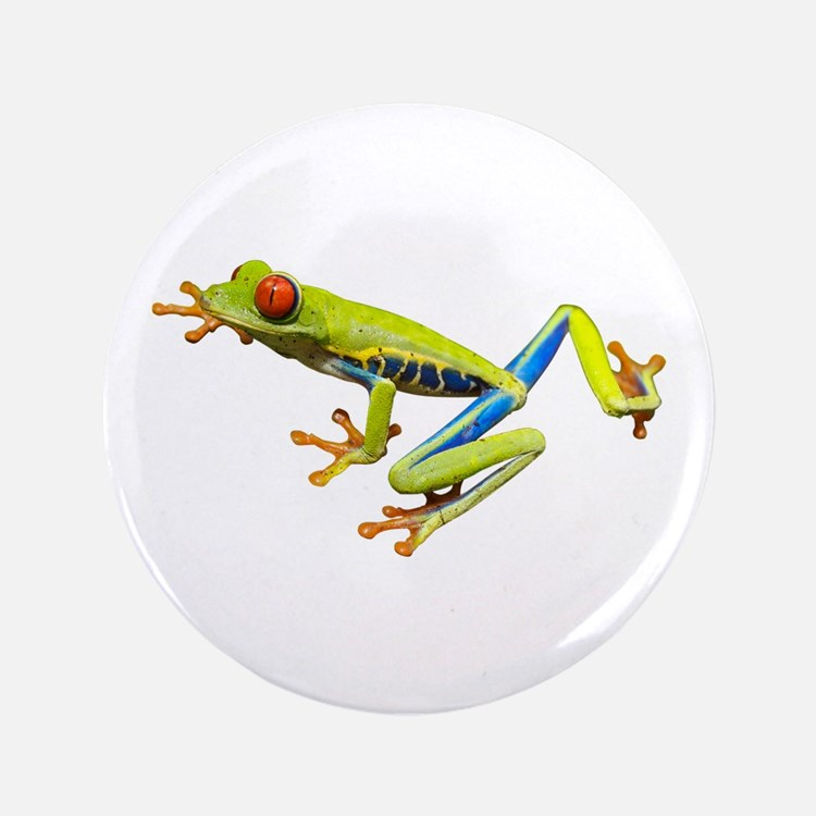 """Red-Eyed Tree Frog 3.5"""" Button"""
