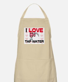 I Love Tap Water BBQ Apron