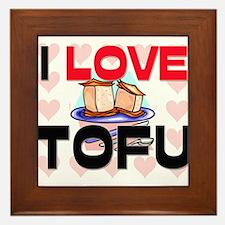 I Love Tofu Framed Tile