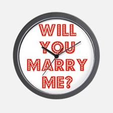 Retro - Will you marry me? Wall Clock