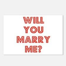 Retro - Will you marry me? Postcards (Package of 8