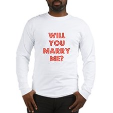 Retro - Will you marry me? Long Sleeve T-Shirt