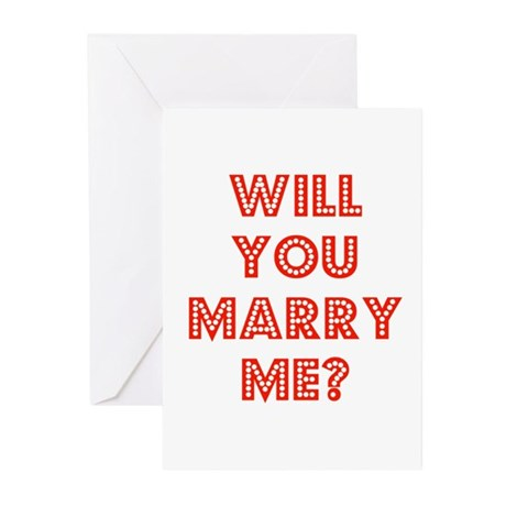 Retro - Will you marry me? Greeting Cards (Pk of 1