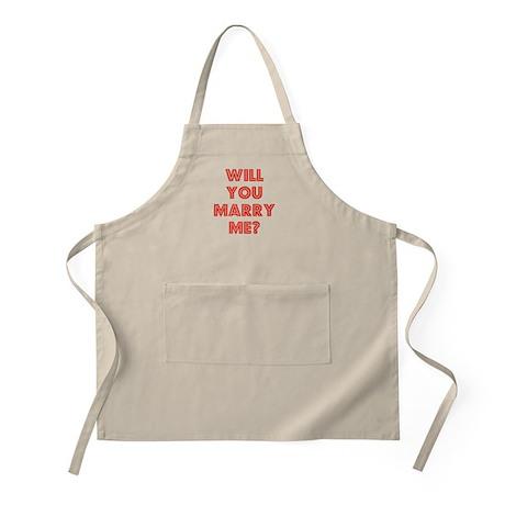 Retro - Will you marry me? BBQ Apron