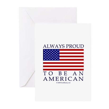 Proud to be American Greeting Cards (Pk of 10)