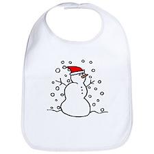 'Snowman Santa' Bib