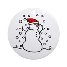 'Snowman Santa' Ornament (Round)