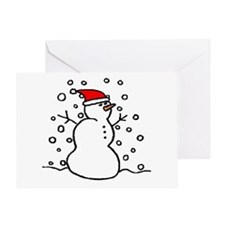 'Snowman Santa' Greeting Card