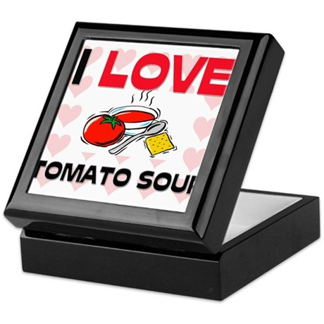 I Love Tomato Soup Keepsake Box