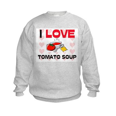 I Love Tomato Soup Kids Sweatshirt