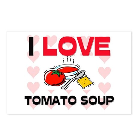 I Love Tomato Soup Postcards (Package of 8)