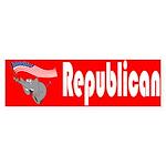 Republican Elephant Bumper Sticker (50 pk)