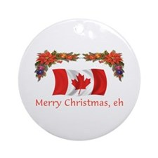 Canada Merry Christmas, eh 2 Ornament (Round)