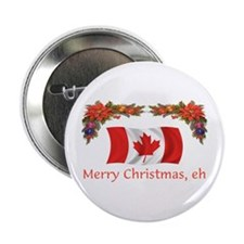 "Canada Merry Christmas, eh 2 2.25"" Button (10 pack"