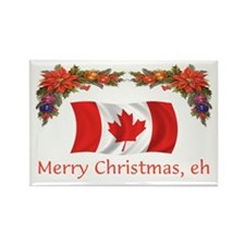 Canada Merry Christmas, eh 2 Rectangle Magnet