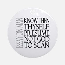 Know Thyself Ornament (Round)
