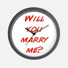 Comic - Will you marry me? Wall Clock
