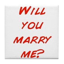 Comic - Will you marry me? Tile Coaster