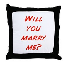 Comic - Will you marry me? Throw Pillow