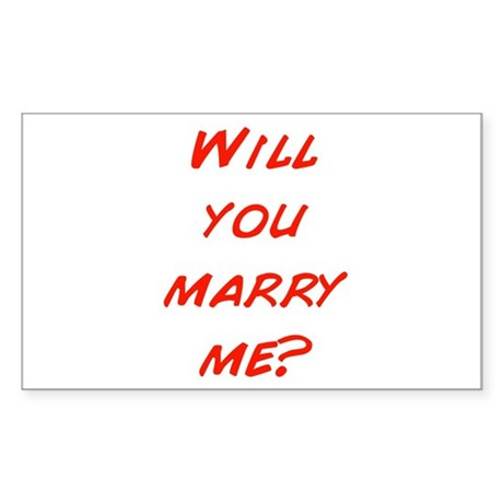Comic - Will you marry me? Rectangle Sticker 50 p