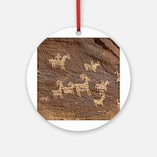 Ute Petroglyphs - Ornament (Round)