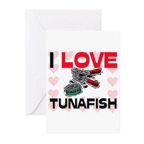 I Love Tunafish Greeting Cards (Pk of 10)