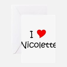 Cute Nicolette Greeting Card