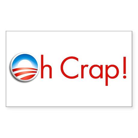 Oh Crap Obama Sticker Rectange