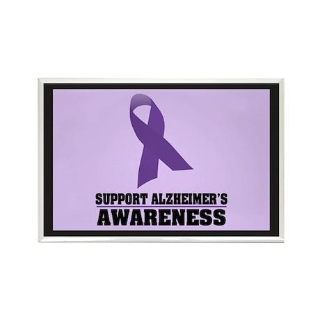 Alzheimers Awareness Rectangle Magnet